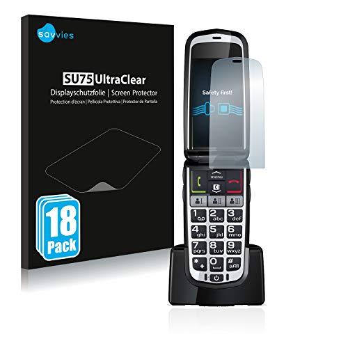 Savvies 18x Schutzfolie kompatibel mit Emporia Comfort Bildschirmschutz-Folie Ultra-transparent