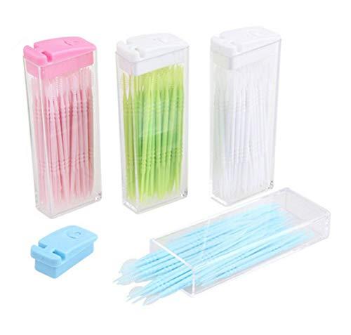 50x Demarkt Toothpicks Zahnstocher Kunststoff zufällige Farbe 6.5cm