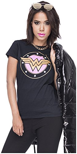 Tshirt Wonderwoman Damen Shirt Wonder Woman T-Shirt Superwoman Superhelden Comics Halloween Kostüm Karnevalskostüme Karneval Fasching S