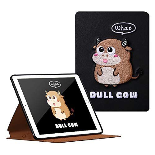 HaoHZ Case for iPad 8/7th Generation (2020/2019), Traditional Embroidery Protective Case Folio Cover with Soft Back, Auto Sleep/Wake Cover Compatible for Ipad 8Th/7Th Gen,What