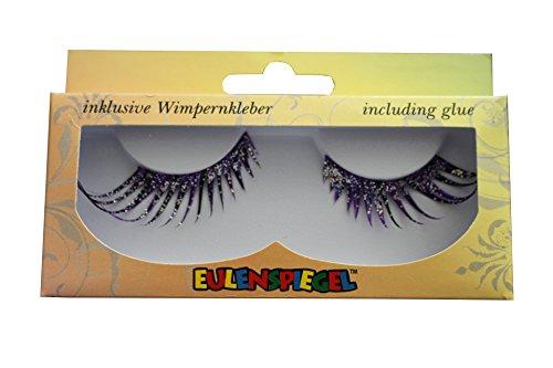 Eulenspiegel 11007839 Black Classic Eye Lashes, hommes, femmes, garçons et filles