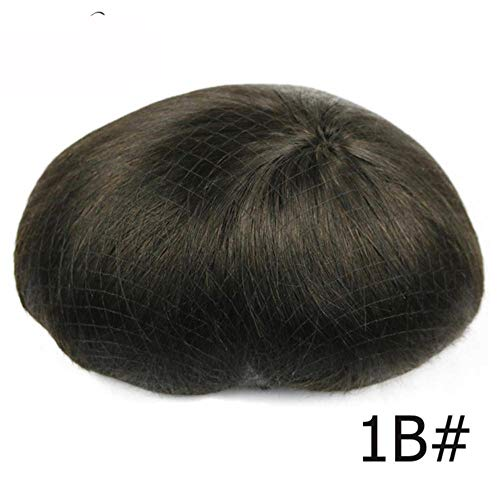 Mens Toupee 100% Remy Human Hair Lace Thin PU Replacement System Toupees Men Hair Wigs, China, 6x8