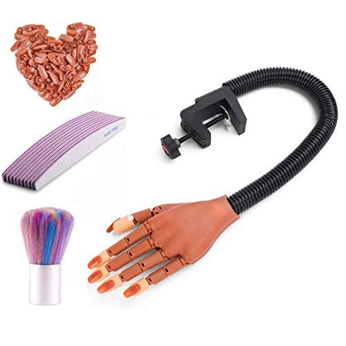 Dream Reach Upgrade Übungsmodell Nageltraining Übungshand/Finger für Maniküre Handmodell für Nagelübung Nagel Art Frauenhandmodell mit 100 Stücke künstliche Nägel Maniküre-Versorgung Geschenk