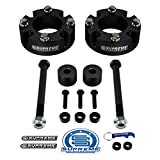 Supreme Suspensions - Front Leveling Kit for 2007-2020 Toyota Tundra 2.5' Front Lift Strut Spacers with Differential Drop Kit 4WD (Black)