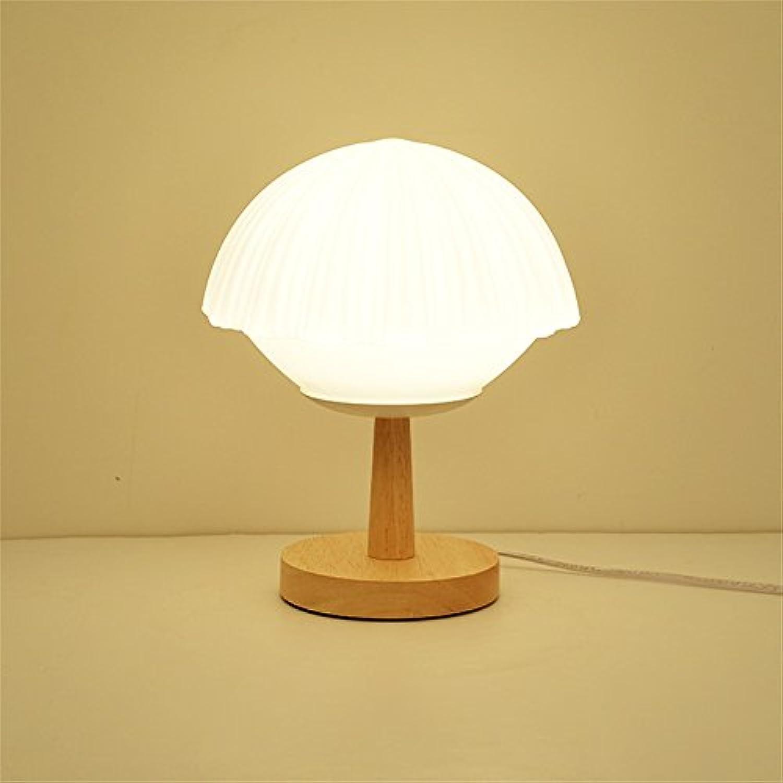 Holz LED Tischleuchte, Fuball Form Schreibtischleuchten für Schlafzimmer Nachttisch