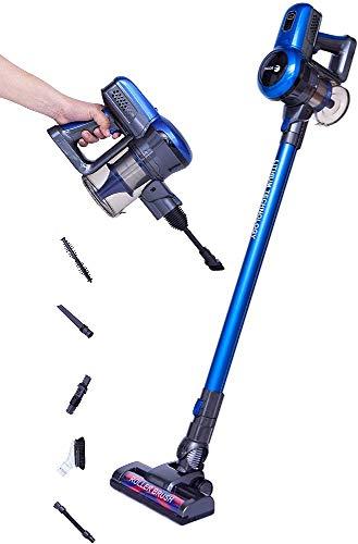 Fagor Aspirador Vertical sin Cable sin Bolsa ARES 22.2V Ciclónico Bateria Litio 2200mAh 22,2V 120W autonomía 45 min, Azul