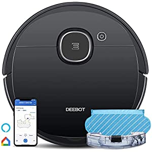 Ecovacs Robot Vacuum OZMO920 Robotic Vacuum Cleaner, 2-in-1 with Mop Smart Navi 3.0 Laser Technology, Multi-floor Mapping, Virtual Boundary, Alexa & App Connect, Works on Carpets & Hard Floors