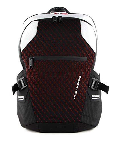 PIQUADRO Backpack PQ-Y Gray and red - CA5151PQY-GRR
