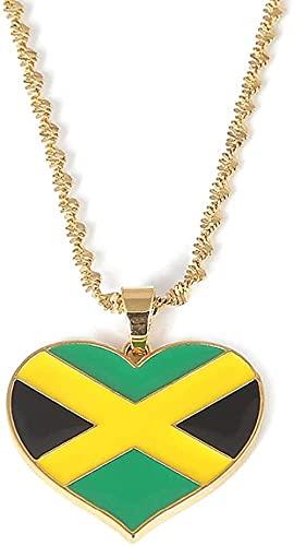 Collar Colgante De Bandera De Jamaica YCollar DeAmperioJoyería Regalos De País De Jamaica