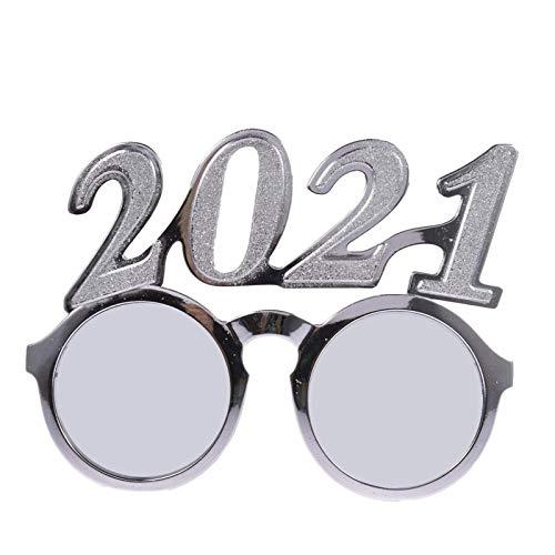 PHLPS Glasses de Fiesta de Novedad Glosas de Oro 2021, Gafas formadas, Gafas de Sol Divertidas, para Fiesta de Año Nuevo Favors Favors PRIGHT Party Supplies, para la Fiesta de los Accesorios de Fotos