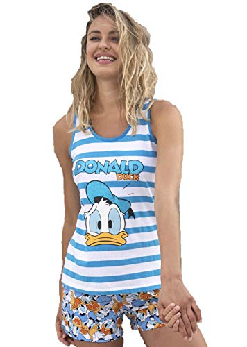 Disney Pijama Mujer Pato Donald Verano Tirantes