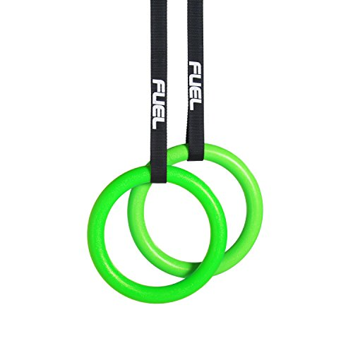 FUEL Pureformance Gymnastic Rings with Straps - HEAVY DUTY for Cross Training, Gymnastics, Strength & Fitness Training