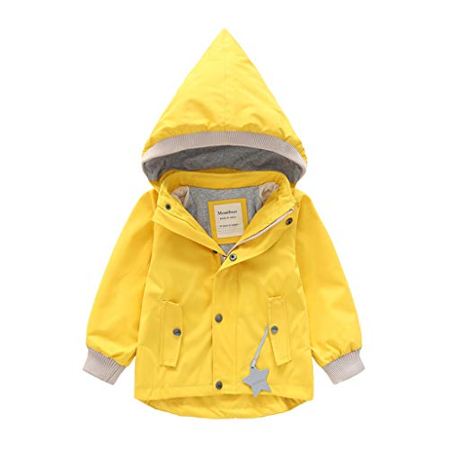 Mantel capuchon outwear winter jongens en meisjes lange mouwen Cartoon Plus Velvet Hooded Windproof regenjas