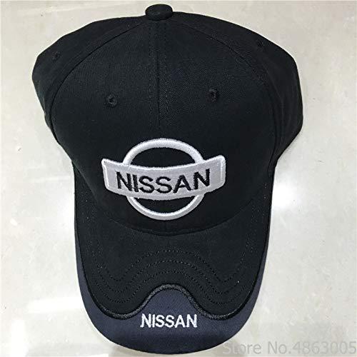 BAJSKD Baseballmütze Frühling und Sommer Black Hat Cotton Letter Stickerei Nissan Baseball Cap Snap Back Fashion Hüte für Herren & Damen Trucker Caps
