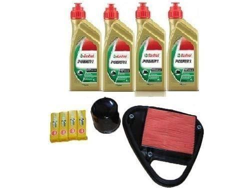 MGM Kit révision Honda VT 600 Shadow huile Castrol filtre à huile air bougies 88