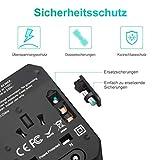 LOETAD Reiseadapter Travel Adapter Universal Reisestecker mit 4 USB Ports 1 Typ-C und 1 AC Buchse weltweit Internationale Reise Stecker für 150 Ländern (Verpackung MEHRWEG) - 8