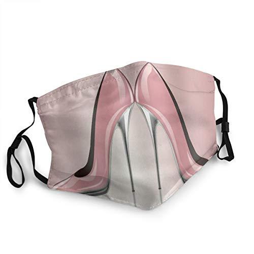 Bandana riutilizzabile a mezza faccia,Scarpe col tacco Rosa donna femminile Lady Girl,Coprivaso sportivo regolabile