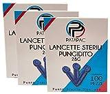 300 Lancette Sterili Pungidito Monouso Ago 28 Grammi da utilizzare con dispositivo pungi dito per la misurazione della glicemia nel sangue a Punta Sterile