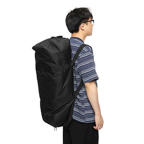 Angle-w Diseño elegante, viaje simple, 55/100/150L bolsa de equipaje impermeable Encampment Travel Mochila de almacenamiento portátil Vamos a ir más allá (color: L)