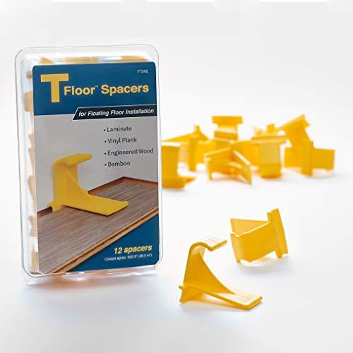 TFloor Spacers | for Laminate Wood Flooring, Vinyl Plank, Hardwood & Floating Floor Installation