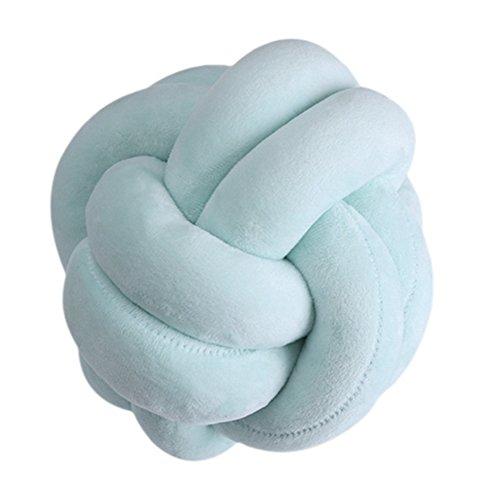 homeofying creativas bola de color sólido de nudo 18cm manta almohada cintura Back cojín para sofá cama casa Decor, felpa, Verde, talla única