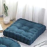 LEIW Cojín de relleno cuadrado azul oscuro cojín de relleno de algodón grueso cómodo firme multifuncional cojines adultos silla sillón sofá mascotas jardín 45x45cm