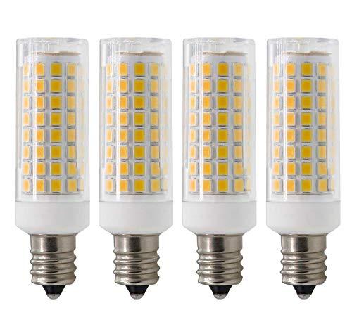 E12 LED Light Bulb, Dimmable E12 Candelabra Base Light Bulbs, 70 - 75W Equivalent 750 Lumens, 4 Packs for Chandelier, Ceiling Fan, Desk Lamp (Warm White)