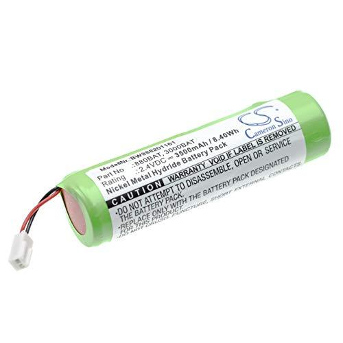 vhbw Batería compatible con NOVIPro LS522, UL521, UL522 dispositivo medición láser, instrumento de medición (3500mAh 2,4V NiMH)