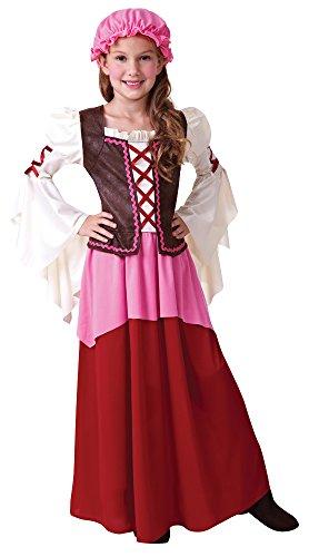 Tavernen Mädchen Mittelalterliche Magd Wirtin Kinder Kostüm Gr. L (9-12 Jahre)