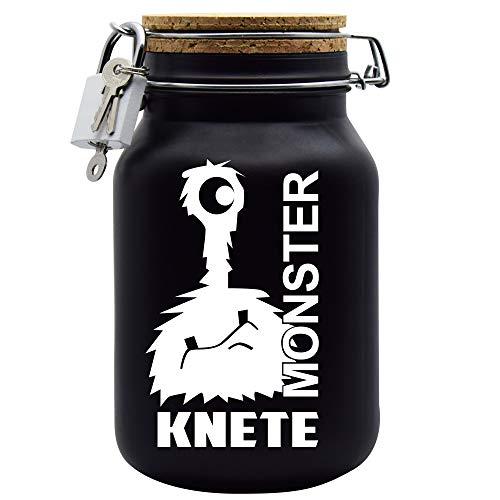 Spardose Monster Knete Weiss Geld Geschenk Idee Schwarz XL