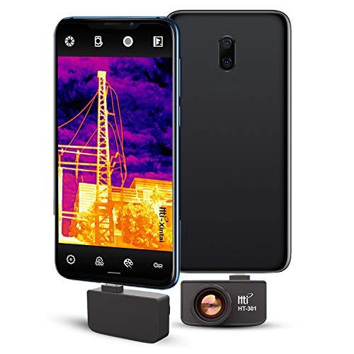 Hti-Xintai Nueva cámara de imágenes térmicas infrarrojas con resolución infrarroja 384 x 288 real más alta para Android Micro USB o USB-C Smartphone con 25 HZ