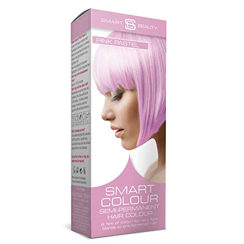 Pink Pastel Candy Floss, Semi-Permanent Hair Dye, Soft Fashion color with Nourishing Hair Conditioners, 75 ml