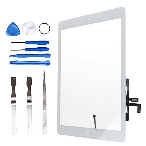 LL TRADER for iPad Air 1 iPad 5 White Touch Screen Digitizer Front Glass with Home Button Pre-assembled
