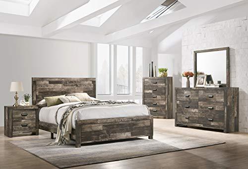 Esofastore 5pc Queen Size Bed Set Contemporary Bedroom Furniture Dresser...