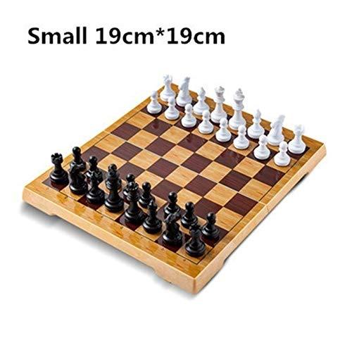U/D Juego de ajedrez de plástico magnético ajedrez Pequeño Tablero de ajedrez Grande para Amigos AMP Infantil Kid Entretenimiento Regalo Juegos de Mesa
