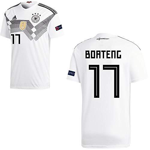 adidas Fußball DFB Deutschland Home Trikot WM 2018 Herren Boateng 17 mit Respekt Logo Gr S
