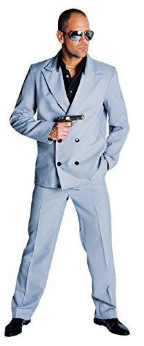 M210252-L grau Herren Miami Vice Anzug-Kostüm Bodyguard Gr.L