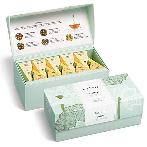 Tea Forte Lotus Presentation Box LOTUS Mit 20 Bio Tee-pyramiden by Tea Forté