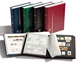 Leuchtturm 341309 A4 Stock Book, 32 white pages, padded cover, blue