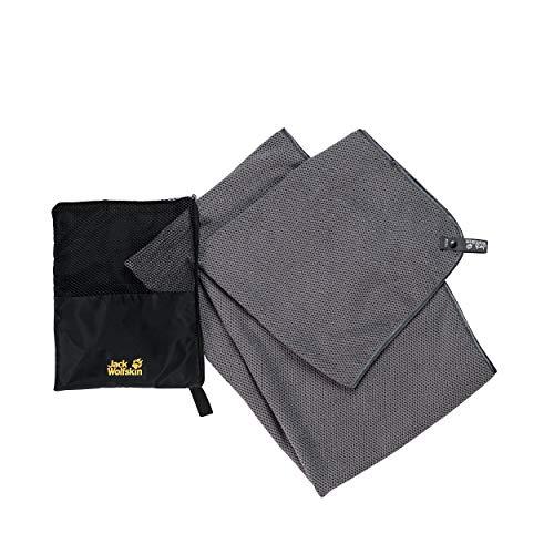 Jack Wolfskin Waffel Towel M Grau, Handtücher, Größe One Size - Farbe Pebble Grey