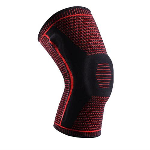 asx Rodilleras para mujer, 1 rodilleras para deporte, rodilleras, rodilleras, protectores de rótula, de silicona, para correr, voleibol, bebé, antideslizante, color rojo, talla L: