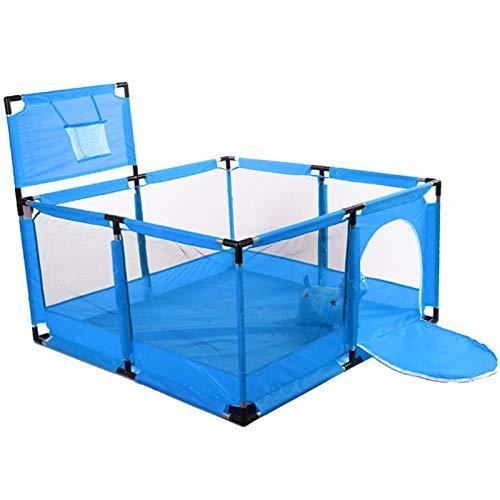 Valla grande de malla para bebé, portátil, para bebé, para jugar al parque de juegos con aro de baloncesto, malla transpirable para interiores y exteriores, para niños pequeños