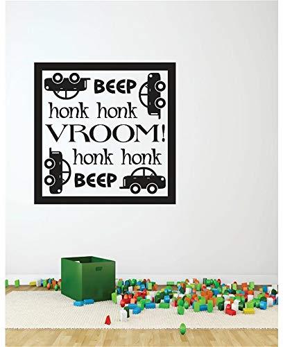 stickers muraux citations petit prince Beep Honk Honk Vroom pour salle de jeux chambre d'enfant
