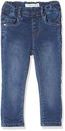 NAME IT Baby-Mädchen Nmfpolly Dnmtora 3243 Legging Noos Hose, Blau (Dark Blue Denim Dark Blue Denim), (Herstellergröße:92)