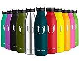 Super Sparrow Borraccia Termica – 350ml, 500ml, 750ml | Bottiglia Acciaio Inox Isolamento | Senza BPA - Borracce per Bambini, Scuola, Sport, All'aperto, Palestra, Yoga (Giada, 750ml-25oz)