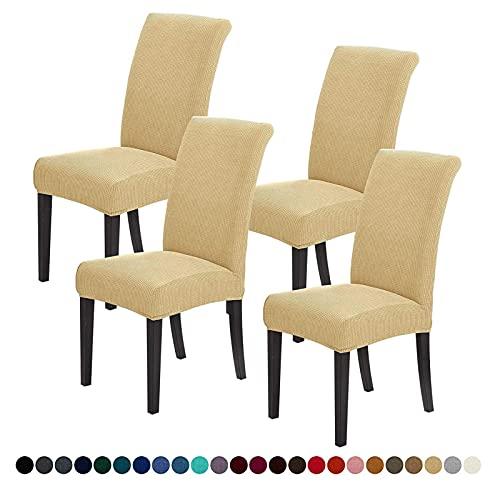 BAIHUO Stuhlabdeckungen für Esszimmer - Stretchstuhl Slipcover für dekorativen Sitzschützer armloser Abnehmbarer Waschbares Elastisches Abendessen Universal Spandex Vollstuhl Slip-Covers Set