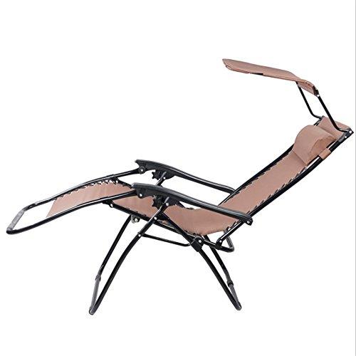 Yuqianqian Tumbona de Playa al Aire Libre para jardín Tubo Exterior del Casquillo de la sombrilla con Silla Plegable Silla del Ocio de sillón reclinable Silla Silla de Playa