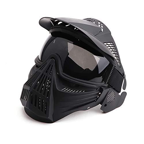 Máscaras de Paintball, Lente Anti-vaho Ajustable CS Military Tactical Gear Máscara de Cara Completa Airsoft, Protección para los Ojos para Disparar la Motocicleta de Ciclismo de Caza