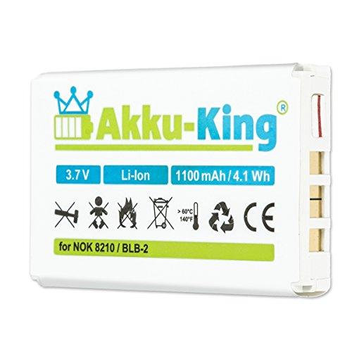 Akku-King Akku kompatibel mit Nokia BLB-2 - Li-Ion 1100mAh - für 8210, 3610, 5210, 6510, 7650, 8250, 8310, 8850, 8890, 8910i, Swiss DV 310, 320, 330