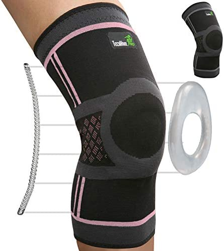 TechWare Pro Knee Compression Sleeve Knee Brace for Men Women with Side Stabilizers Patella product image